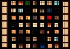 Windows przy noc, cdr wektor Obrazy Stock