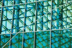 Windows and in Pulkovo airport terminal Royalty Free Stock Photo