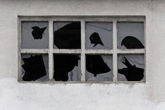 Windows quebrado Imagem de Stock Royalty Free