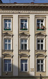 Windows of reconstructed building. The decorated windows of reconstructed building Stock Photo