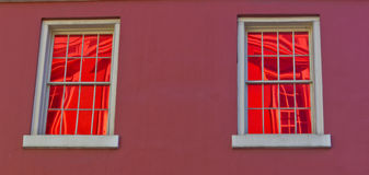 Windows in Red Royalty Free Stock Photography