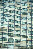 Windows reflections in a glass wall Royalty Free Stock Photos
