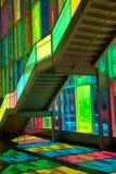 Windows reflexion på congresmitten i Montreal Arkivbild