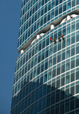 Windows-Reinigung Stockfoto