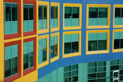 Windows resemble colorful Building Blocks Stock Photography