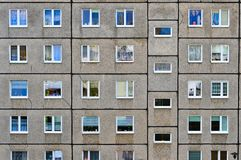 Windows in a residential block royalty free stock photography