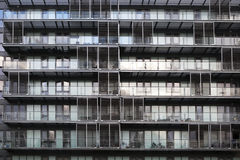 Windows in residential tower block Royalty Free Stock Photos