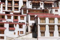 Windows монастыря Rhizong budhist, Ladakh, Индии Стоковые Изображения RF