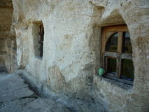 Windows in rock wall Royalty Free Stock Photo