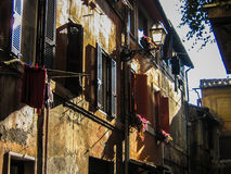 Windows in Rome Royalty Free Stock Photography