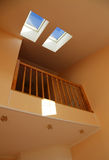 Windows in a roof. Two windows in a house roof Stock Photos