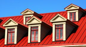 Windows and roof Royalty Free Stock Image