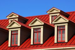 windows and roof Royalty Free Stock Photos