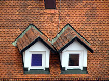 Windows on roof. In croatia Royalty Free Stock Photography