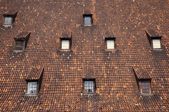 Windows on the roof of mill in Gdansk Royalty Free Stock Photography