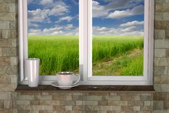 Windows room Stock Images