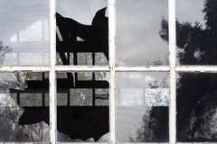Windows rotto Fotografia Stock Libera da Diritti