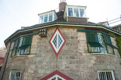 Windows of the round house Stock Photography