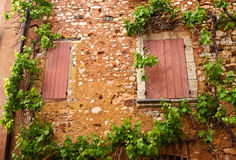 Windows in Roussillon Stock Photography