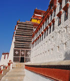 Windows in row, Potala palace Stock Photo
