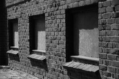 Windows in a row Royalty Free Stock Image
