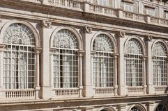 Windows of the Royal Palace - Madrid. Windows of the Royal Palace of Madrid Palacio Real de Madrid - Madrid, Spain Royalty Free Stock Photography