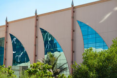 Windows in sail shape in Abu Dhabi Royalty Free Stock Photo