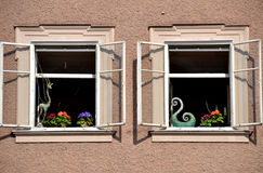 Windows of Salzburg Royalty Free Stock Images