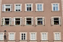 Windows of Salzburg Stock Photos