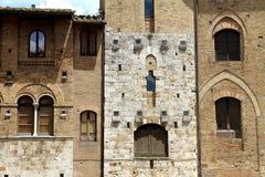 Windows San Gimignano Стоковые Фото