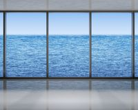 Windows on the sea. Modern windows with a view on the sea royalty free illustration