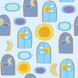Windows seamless funny pattern Stock Photo