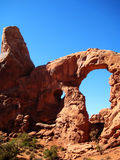 Windows section in Arches National Park. (Utah, USA Royalty Free Stock Photo