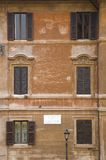 Windows seen from Keats-Shelley House, Rome, Europe, overlooking the Spanish Steps Royalty Free Stock Images