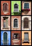 Windows set Royalty Free Stock Photos