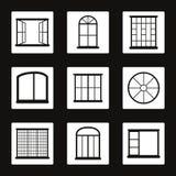 Windows. Set of icons on a theme Windows Royalty Free Stock Image
