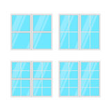 Windows set isolated on white background. Vector Royalty Free Stock Image