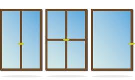 Windows. Set of three kind of windows Stock Image