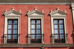 Windows in Seville, Spain Royalty Free Stock Photography