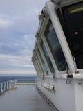 Windows of a ships bridge Stock Photography