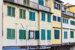 Windows of shops on the Ponte Vecchio Bridge in Florence Royalty Free Stock Photography