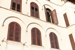 Windows with shutters Royalty Free Stock Photo