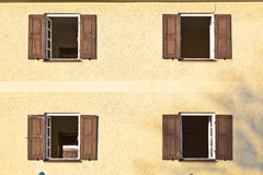 Windows with shutters Royalty Free Stock Image