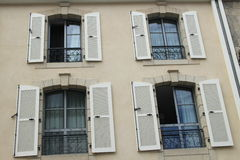 Windows and shutters Royalty Free Stock Images