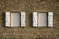 Windows with shutters Stock Photo