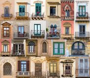 Windows from Sicily Stock Photography