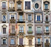 Windows from Sicily Royalty Free Stock Photography
