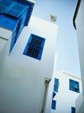 Windows in Sidi Bou Said Stock Photo