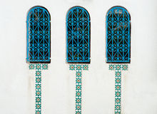 Windows of sidi bou said Stock Images