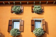 Windows Sirmione, Италии Стоковые Фото